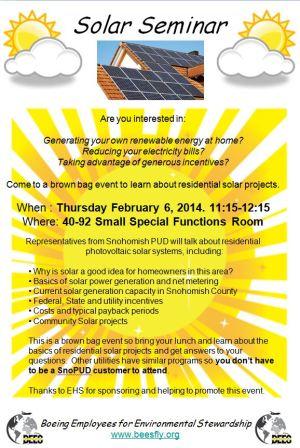 BEES Solar Seminar Feb 2014